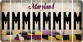 Maryland M Cut License Plate Strips (Set of 8) LPS-MD1-013