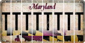 Maryland T Cut License Plate Strips (Set of 8) LPS-MD1-020