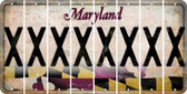 Maryland X Cut License Plate Strips (Set of 8) LPS-MD1-024