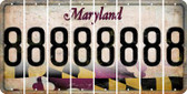Maryland 8 Cut License Plate Strips (Set of 8) LPS-MD1-035