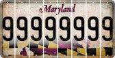 Maryland 9 Cut License Plate Strips (Set of 8) LPS-MD1-036
