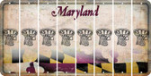 Maryland BASKETBALL HOOP Cut License Plate Strips (Set of 8) LPS-MD1-058