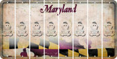 Maryland BABY GIRL Cut License Plate Strips (Set of 8) LPS-MD1-067