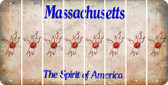 Massachusetts BOWLING Cut License Plate Strips (Set of 8) LPS-MA1-059