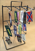 Counter Top Black Wire Keychain 12 Peg Display Rack