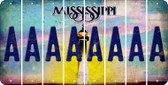 Mississippi A Cut License Plate Strips (Set of 8) LPS-MS1-001