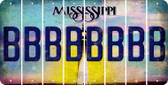 Mississippi B Cut License Plate Strips (Set of 8) LPS-MS1-002