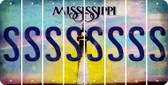 Mississippi S Cut License Plate Strips (Set of 8) LPS-MS1-019