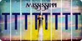 Mississippi T Cut License Plate Strips (Set of 8) LPS-MS1-020
