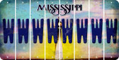 Mississippi W Cut License Plate Strips (Set of 8) LPS-MS1-023
