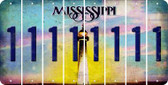 Mississippi 1 Cut License Plate Strips (Set of 8) LPS-MS1-028