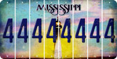 Mississippi 4 Cut License Plate Strips (Set of 8) LPS-MS1-031
