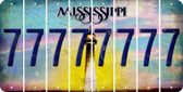 Mississippi 7 Cut License Plate Strips (Set of 8) LPS-MS1-034