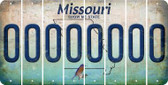 Missouri O Cut License Plate Strips (Set of 8) LPS-MO1-015