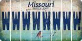 Missouri W Cut License Plate Strips (Set of 8) LPS-MO1-023