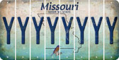 Missouri Y Cut License Plate Strips (Set of 8) LPS-MO1-025