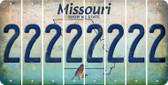 Missouri 2 Cut License Plate Strips (Set of 8) LPS-MO1-029