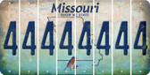Missouri 4 Cut License Plate Strips (Set of 8) LPS-MO1-031