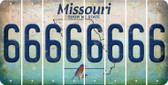 Missouri 6 Cut License Plate Strips (Set of 8) LPS-MO1-033