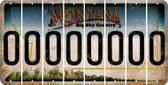 Montana O Cut License Plate Strips (Set of 8) LPS-MT1-015
