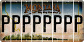 Montana P Cut License Plate Strips (Set of 8) LPS-MT1-016
