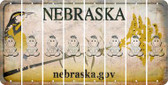 Nebraska BABY GIRL Cut License Plate Strips (Set of 8) LPS-NE1-067