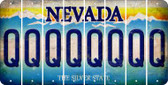 Nevada Q Cut License Plate Strips (Set of 8) LPS-NV1-017
