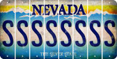 Nevada S Cut License Plate Strips (Set of 8) LPS-NV1-019