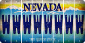 Nevada W Cut License Plate Strips (Set of 8) LPS-NV1-023