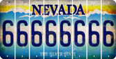 Nevada 6 Cut License Plate Strips (Set of 8) LPS-NV1-033