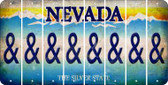 Nevada AMPERSAND Cut License Plate Strips (Set of 8) LPS-NV1-049