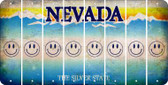 Nevada SMILEY FACE Cut License Plate Strips (Set of 8) LPS-NV1-089