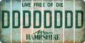New Hampshire D Cut License Plate Strips (Set of 8) LPS-NH1-004