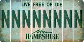 New Hampshire N Cut License Plate Strips (Set of 8) LPS-NH1-014