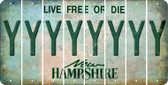 New Hampshire Y Cut License Plate Strips (Set of 8) LPS-NH1-025