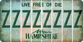 New Hampshire Z Cut License Plate Strips (Set of 8) LPS-NH1-026