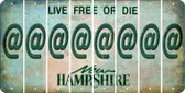 New Hampshire ASPERAND Cut License Plate Strips (Set of 8) LPS-NH1-039