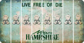 New Hampshire BABY BOY Cut License Plate Strips (Set of 8) LPS-NH1-066