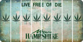 New Hampshire POT LEAF Cut License Plate Strips (Set of 8) LPS-NH1-090