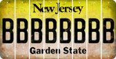 New Jersey B Cut License Plate Strips (Set of 8) LPS-NJ1-002