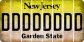 New Jersey D Cut License Plate Strips (Set of 8) LPS-NJ1-004