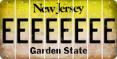 New Jersey E Cut License Plate Strips (Set of 8) LPS-NJ1-005