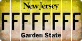 New Jersey F Cut License Plate Strips (Set of 8) LPS-NJ1-006