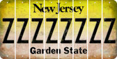 New Jersey Z Cut License Plate Strips (Set of 8) LPS-NJ1-026