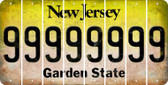 New Jersey 9 Cut License Plate Strips (Set of 8) LPS-NJ1-036