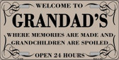 Welcome To Grandads Wholesale Metal Novelty License Plate