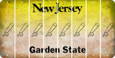 New Jersey BASEBALL WITH BAT Cut License Plate Strips (Set of 8) LPS-NJ1-057