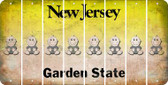 New Jersey BABY BOY Cut License Plate Strips (Set of 8) LPS-NJ1-066