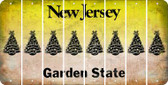 New Jersey CHRISTMAS TREE Cut License Plate Strips (Set of 8) LPS-NJ1-077