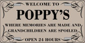 Welcome To Poppys Wholesale Metal Novelty License Plate
